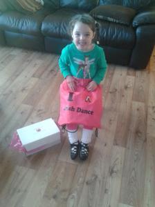 Jasmine with her prize!