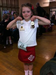 Lil' Legend Sorcha and her medal!